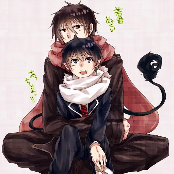 Tags: Anime, Haruse Amatou, Ao no Exorcist, The Miyama-Uguisu Mansion Incident, Okumura Rin, Night (The Miyama-Uguisu Mansion Incident), Creator Connection, Blue Exorcist