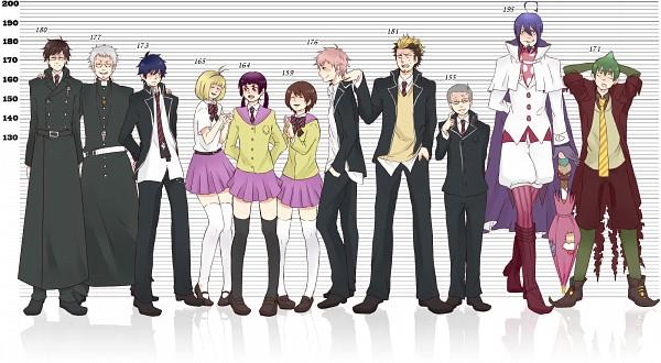 6 Foot Tall Anime Characters : Ao no exorcist blue katou kazue wallpaper