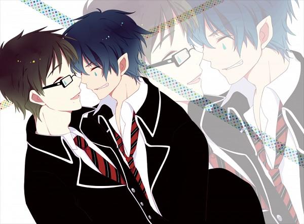 Tags: Anime, Ao no Exorcist, Okumura Yukio, Okumura Rin, Pixiv, Fanart, Blue Exorcist