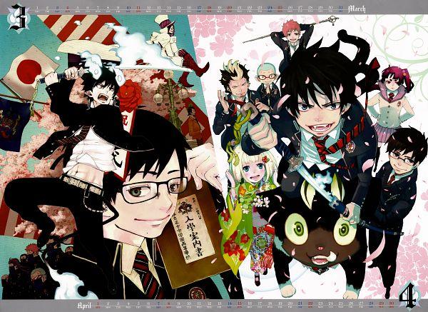 Tags: Anime, Katou Kazue, Ao no Exorcist, Okumura Rin, Shima Renzou, Mephisto Pheles, Ni, Shima Kinzou, Moriyama Shiemi, Suguro Ryuji, Kamiki Izumo, Miwa Konekomaru, Okumura Yukio, Blue Exorcist