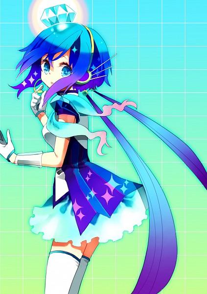 Tags: Anime, Komochi, VOCALOID, Aoki Lapis, Layered Clothes, Futuristic Theme, Asymmetrical Clothing, Slender, Lapis Lazuli, Mobile Wallpaper