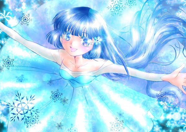 Tags: Anime, Cape Of Moon, Smile Precure!, Aoki Reika, Cure Beauty, Elsa the Snow Queen (Cosplay), Fanart, Twitter