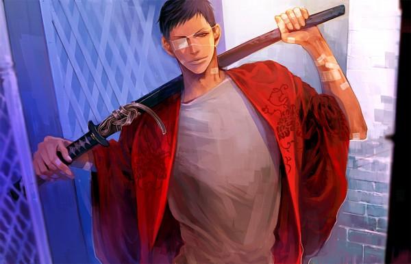 Tags: Anime, Pixiv Id 8796080, Kuroko no Basuke, Aomine Daiki, Brick Wall, Pixiv, Fanart, Fanart From Pixiv
