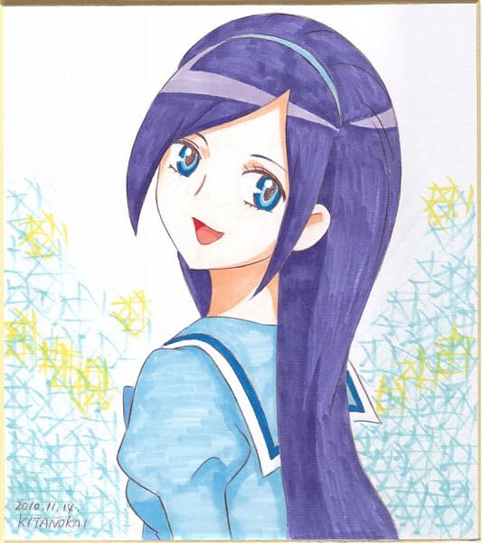 Tags: Anime, Kitano Kai, Fresh Precure!, Aono Miki, Traditional Media, Pixiv, Fanart From Pixiv, Fanart