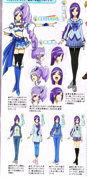 Tags: Anime, Kagawa Hisashi, Fresh Precure!, Cure Berry, Aono Miki, Official Art, Character Sheet, Scan