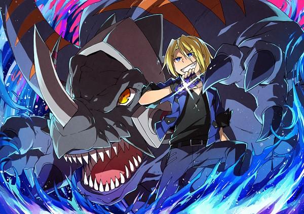 Tags: Anime, Pixiv Id 625061, Digimon Xros Wars, Greymon, Aonuma Kiriha, Fanart, Pixiv