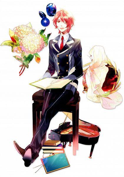 Tags: Anime, Kazuaki, Starry☆Sky~, Aozora Hayato, Virgo, Blue Gem, Stack Of Books, Scan, Official Art, Zodiac, Mobile Wallpaper, Starry☆Sky ~in Winter~