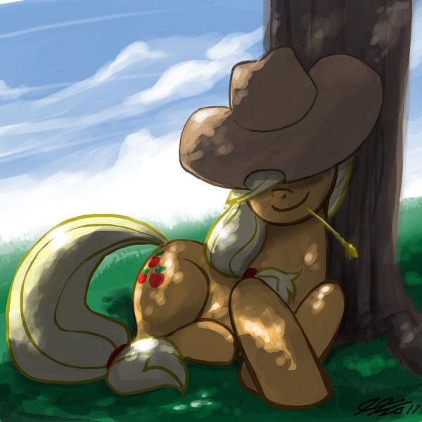 Tags: Anime, John Joseco, My Little Pony, Applejack, Wheat, Cutie Mark, Fanart From DeviantART, Fanart, deviantART