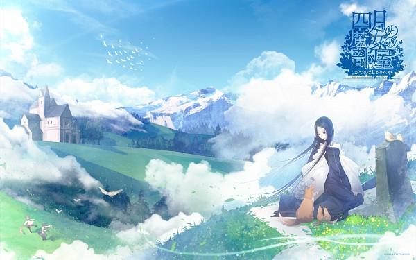 Tags: Anime, Aikura Chihiro, TYPE-MOON, Shigatsu no Majo no Heya, April (Type-MOON), Hill, Official Wallpaper, Wallpaper, Official Art