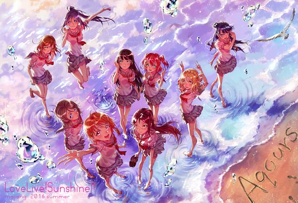 Tags: Anime, MaJiang, Love Live! Sunshine!!, Tsushima Yoshiko, Takami Chika, Watanabe You, Kurosawa Ruby, Kurosawa Dia, Ohara Mari, Matsuura Kanan, Kunikida Hanamaru, Sakurauchi Riko, Aqours