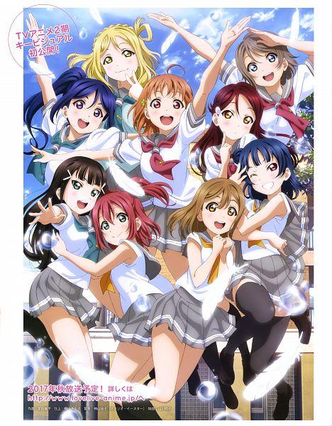 Tags: Anime, Murota Yuuhei, Sunrise (Studio), Love Live! Sunshine!!, Tsushima Yoshiko, Takami Chika, Watanabe You, Kurosawa Ruby, Kurosawa Dia, Ohara Mari, Matsuura Kanan, Kunikida Hanamaru, Sakurauchi Riko