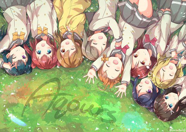 Tags: Anime, Pixiv Id 9505630, Love Live! Sunshine!!, Matsuura Kanan, Kunikida Hanamaru, Sakurauchi Riko, Tsushima Yoshiko, Takami Chika, Watanabe You, Kurosawa Ruby, Kurosawa Dia, Ohara Mari, Aqours