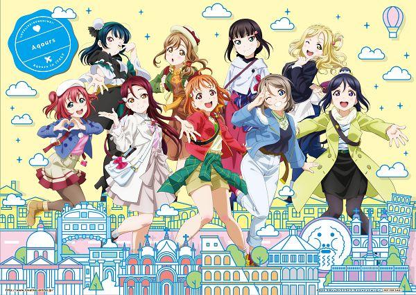 Tags: Anime, Sunrise (Studio), Love Live! Sunshine!!, Love Live! Sunshine!! The School Idol Movie: Over the Rainbow, Kurosawa Dia, Ohara Mari, Matsuura Kanan, Kunikida Hanamaru, Sakurauchi Riko, Tsushima Yoshiko, Takami Chika, Watanabe You, Kurosawa Ruby