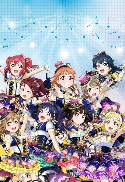 Tags: Anime, KLab, Love Live! Sunshine!!, Love Live! School Idol Festival, Kurosawa Ruby, Kurosawa Dia, Ohara Mari, Matsuura Kanan, Kunikida Hanamaru, Sakurauchi Riko, Tsushima Yoshiko, Takami Chika, Watanabe You