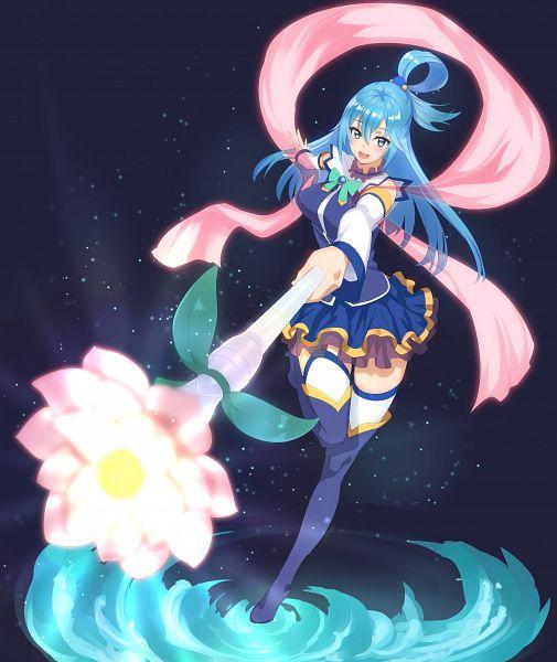 Tags: Anime, Hitori Doumei, Kono Subarashii Sekai ni Shukufuku wo!, Aqua (KonoSuba), Twitter, Fanart