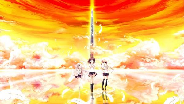 Tags: Anime, Akizuki Tsukasa, Sora Hane, Sorahane, Aqua (VN), Tsukishiro Nanari, Nonomiya Chisa, Minami Rin, Wallpaper