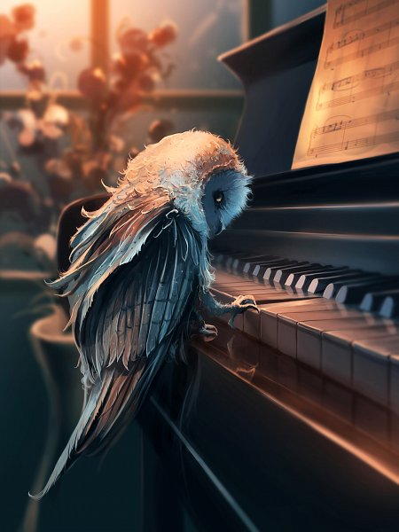 Tags: Anime, Aquasixio, Playing Piano, Vase, Sheet Music, deviantART