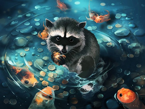 Tags: Anime, Aquasixio, Money, Gold (Metal), Coin, Waves, Raccoon, deviantART, Original