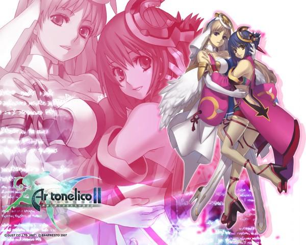 Tags: Anime, Ar Tonelico II, Ar Tonelico, Luca Truelywaath, Chroche Latel Pastalie, Wallpaper