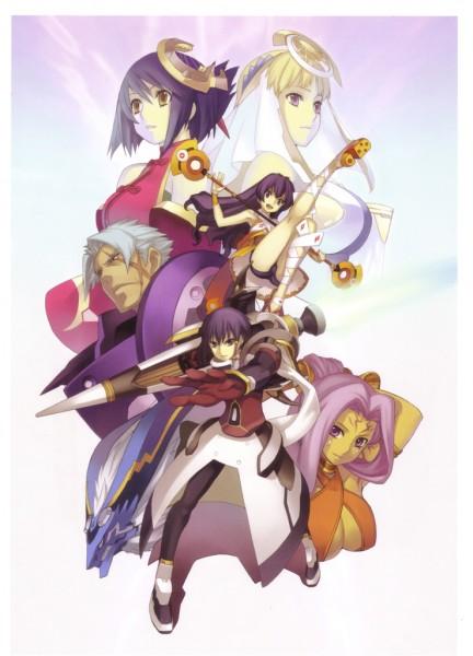 Tags: Anime, Ar Tonelico II, Ar Tonelico, Luca Truelywaath, Cocona Vatel, Croix Bartel, Chroche Latel Pastalie, Official Art