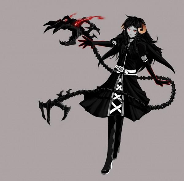 Tags: Anime, Xuunies, Homestuck, Aradia Megido, Control, Black★Rock Shooter (Parody), Troll, Laced Up