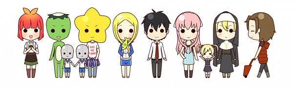 Tags: Anime, A Ikawakita, Arakawa Under the Bridge, Kou Ichinomiya, P-ko, Nino (Arakawa), Maria (Arakawa), Shiro (Arakawa), Sister (Arakawa), Stella (Arakawa), Hoshi, Kappa (Arakawa), Kappa