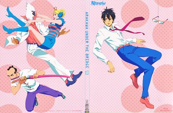 Tags: Anime, Shaft (Studio), Arakawa Under the Bridge, Jacqueline, Last Samurai, Ichinomiya Kou, Billy (Arakawa), Scan, DVD (Source), Official Art