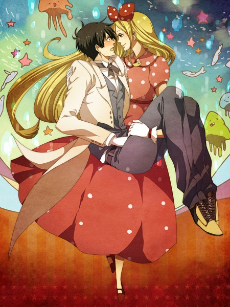 Tags: Anime, Deco, Arakawa Under the Bridge, Nino (Arakawa), Ichinomiya Kou, Cosmos vs Alien, Pixiv