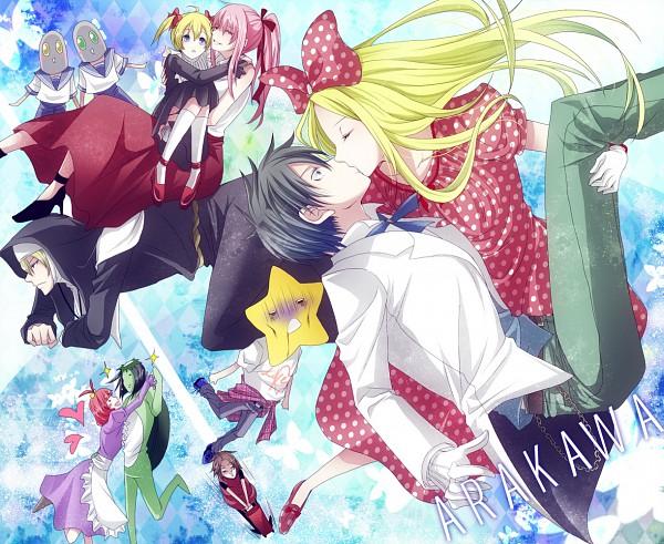 Tags: Anime, Karasiro, Arakawa Under the Bridge, Maria (Arakawa), Stella (Arakawa), Sister (Arakawa), Kappa (Arakawa), Hoshi, P-ko, Kou Ichinomiya, Shiro (Arakawa), Nino (Arakawa), Kappa
