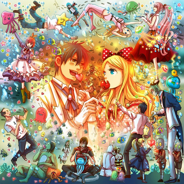 Tags: Anime, Eriyama, Arakawa Under the Bridge, Last Samurai, Hoshi, Stella (Arakawa), P-ko, Ichinomiya Kou, Kappa (Arakawa), Amazoness, Nino (Arakawa), Billy (Arakawa), Maria (Arakawa)