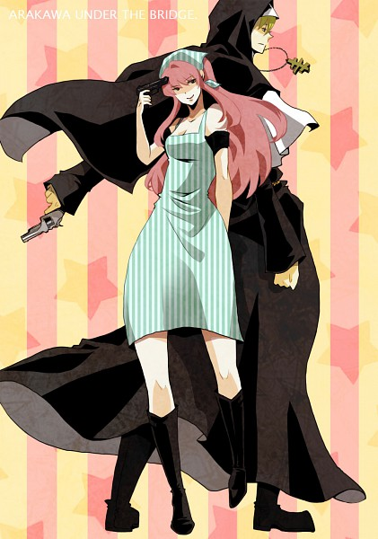 Tags: Anime, Yucco Kxoxc, Arakawa Under the Bridge, Maria (Arakawa), Sister (Arakawa), Fanart, Pixiv