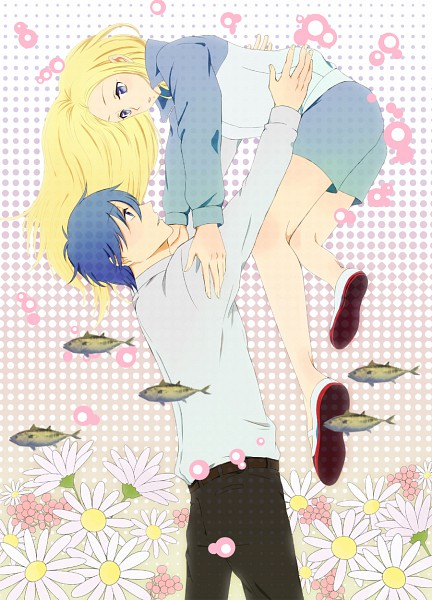 Tags: Anime, Harimoji, Arakawa Under the Bridge, Ichinomiya Kou, Nino (Arakawa), Lifting, Pixiv, Fanart, Mobile Wallpaper