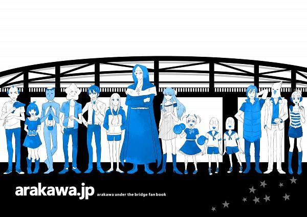 Tags: Anime, Harimoji, Arakawa Under the Bridge, Sister (Arakawa), Shiro (Arakawa), Last Samurai, Hoshi, Stella (Arakawa), P-ko, Ichinomiya Kou, Kappa (Arakawa), Nino (Arakawa), Billy (Arakawa)
