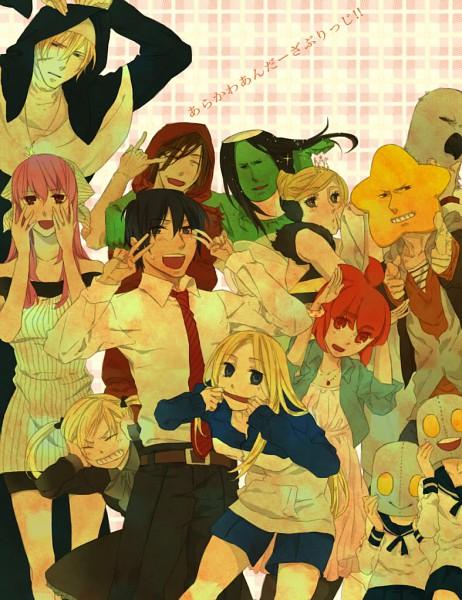Tags: Anime, Arakawa Under the Bridge, Stella (Arakawa), Maria (Arakawa), Billy (Arakawa), Sister (Arakawa), Jacqueline, Hoshi, P-ko, Nino (Arakawa), Shiro (Arakawa), Kappa, Metal Brothers