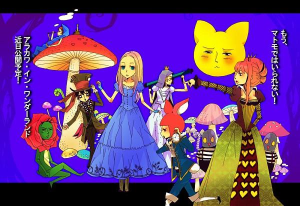 Tags: Anime, Calico, Arakawa Under the Bridge, Alice in Wonderland, White Rabbit, Nino (Arakawa), Tweedledee, Mad Hatter, Maria (Arakawa), Caterpillar (Alice in Wonderland), Cheshire Cat, Sister (Arakawa), Shiro (Arakawa)