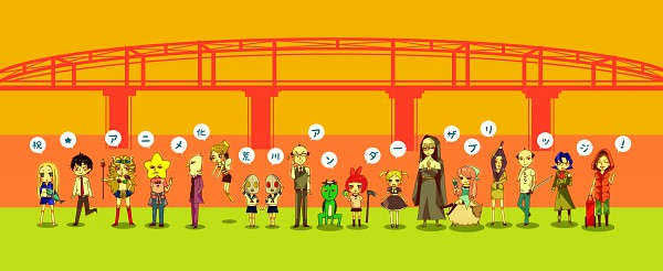 Tags: Anime, Calico, Arakawa Under the Bridge, Sister (Arakawa), Shiro (Arakawa), Last Samurai, Hoshi, Stella (Arakawa), P-ko, Shimazaki (Arakawa), Kou Ichinomiya, Kappa (Arakawa), Takai Terumasa