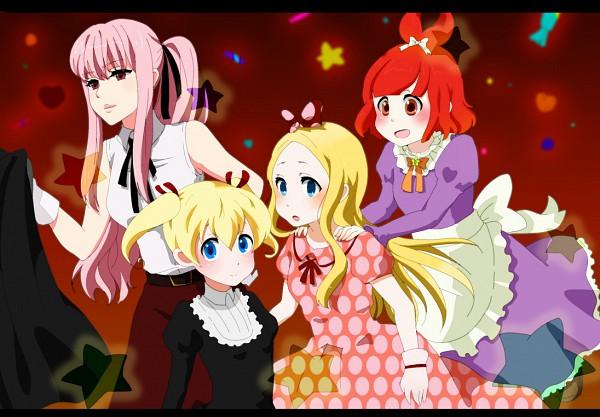 Tags: Anime, Harutiki, Arakawa Under the Bridge, Stella (Arakawa), P-ko, Maria (Arakawa), Nino (Arakawa), Excited, Pixiv, Fanart, Cosmos vs Alien