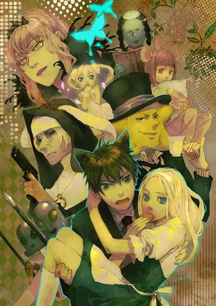 Tags: Anime, shishio*, Arakawa Under the Bridge, Maria (Arakawa), Stella (Arakawa), Sister (Arakawa), Kappa (Arakawa), Hoshi, P-ko, Kou Ichinomiya, Nino (Arakawa), Kappa, Alice in Wonderland (Parody)