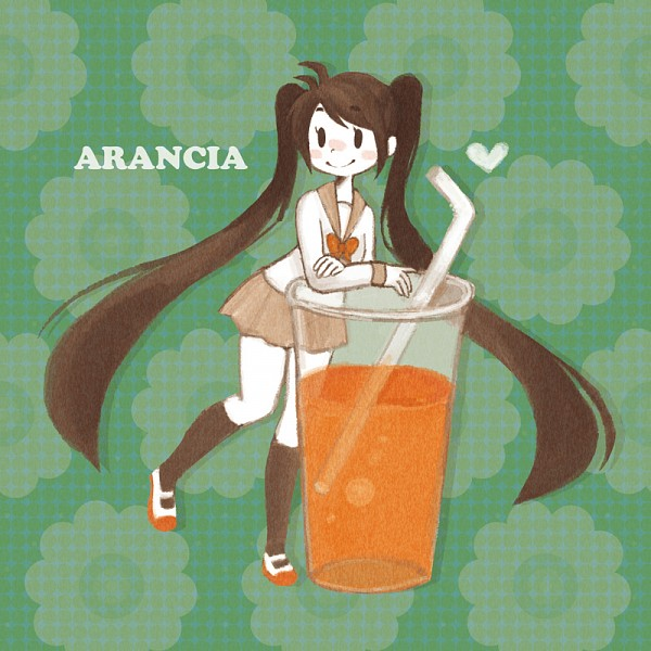 Tags: Anime, Pixiv Id 17963, Arancia, Orange Footwear, Fruit (Personification), Juice, Orange (Personification), Orange Juice, Pixiv, Fanart