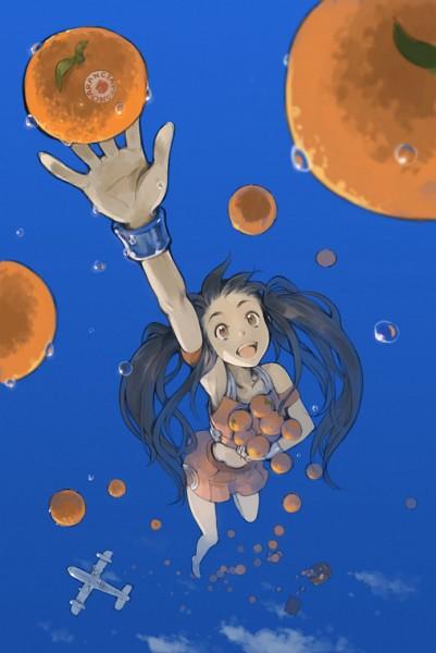 Tags: Anime, Tko, Arancia, Fruit (Personification), Orange (Personification), Mobile Wallpaper, Pixiv, Fanart