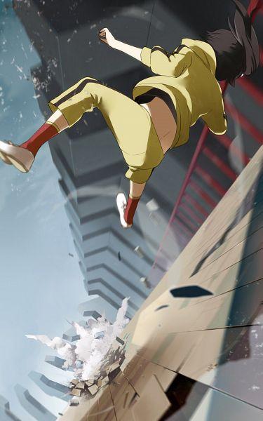 Tags: Anime, Yuu (Yu1you2iu3), Monogatari, Araragi Karen, Motion Blur, Pixiv, Fanart