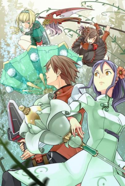 Tags: Anime, Arc Rise Fantasia, Luna (Fantasia), Paula (Fantasia), Ryfia, L'Arc Bright Lagoon