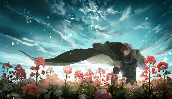 Tags: Anime, Pixiv Id 52666775, Fate/EXTRA, Archer (Fate/EXTRA), Floating Cape, Fanart, Fanart From Pixiv, Pixiv