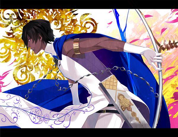 Tags: Anime, Kuramu, Fate/Grand Order, Archer (Fate/Grand Order), Agni Gandiva, Fanart From Pixiv, PNG Conversion, Pixiv, Fanart