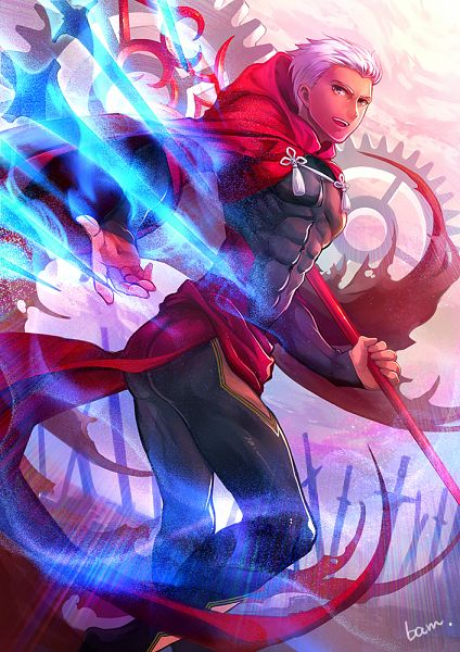 Tags: Anime, Pixiv Id 1174447, Fate/stay night, Archer (Fate/stay night), Unlimited Blade Works (Noble Phantasm), Mobile Wallpaper, PNG Conversion