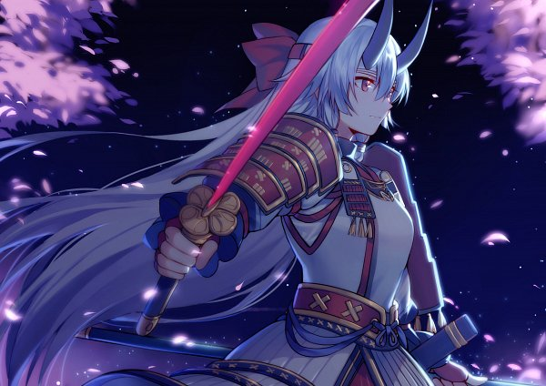 Tags: Anime, Pixiv Id 7382203, Fate/Grand Order, Archer Inferno, Japanese Armor, Pixiv