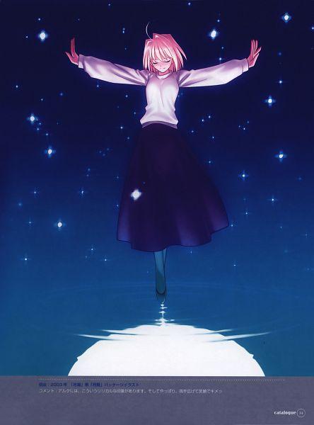 Tags: Anime, Takeuchi Takashi, TYPE-MOON, catalogue, Tsukihime, Arcueid Brunestud, Walking On Water, Scan, Official Art