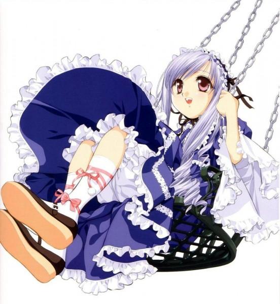 Tags: Anime, Tenhiro Naoto, Sister Princess, Art of Sister Princess II, Aria (Sister Princess), Swing