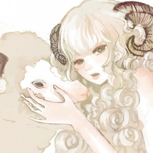 Tags: Anime, Tanutanu, Zodiac (Personification), Hitsujimimi, Aries, PNG Conversion, Original, Pixiv, Zodiac