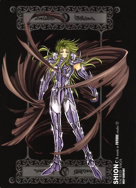 Tags: Anime, Future Studio, Saint Seiya, Sacred Saga, Aries Shion, Mobile Wallpaper, Gold Saints